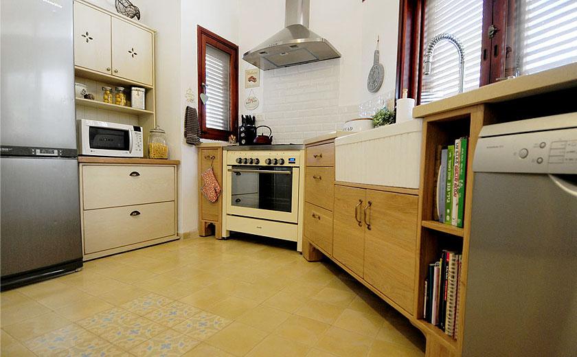 רצפה במטבחים כפריים